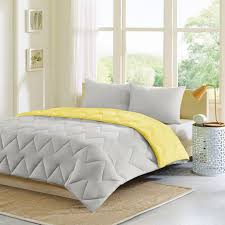 Canopy Down Alternative Comforter Queen Size Pastel Yellow Bedding
