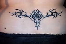 tattoos tramp stamps butterfly lower back tattoo via sacred