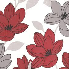 grey wallpaper with red flowers superflora red flower wallpaper red floral wall coverings by