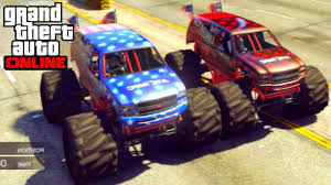 monster truck racing youtube gta 5 how to change colour u0026 race with the liberator monster