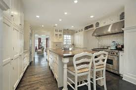 design a galley kitchen layout laminate mahogany wood flooring