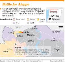 Azaz Syria Via Google Maps by Daesh Recaptures Town On Syria Turkey Border Gulfnews Com
