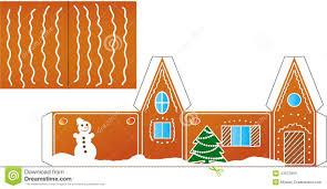 printable model house template gingerbread house folded model paper stock vector illustration of