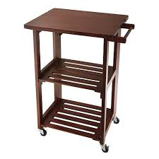 Wolfgang Puck Foldable AllWood Kitchen Cart  HSN - Kitchen cart table