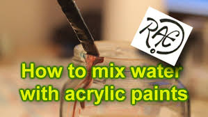 how to mix water with acrylic paint tutorial mixing paints by