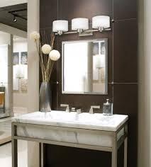 bathroom lighting over mirror expanded metal grill grate indoor