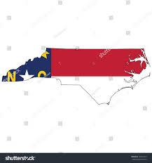 North Carolina Flag History North Carolina Map Flag Inside Stock Illustration 142827013