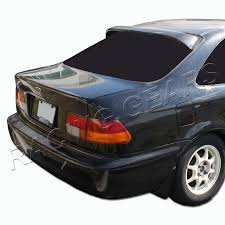 2000 honda civic spoiler for honda civic ek coupe black abs plastic rear window roof visor