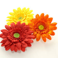 4 gerbera daisy hair flower