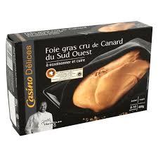 cuisiner un foie gras frais casino foie gras cru de canard à assaisonner et cuire casino