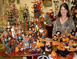 lori mitchell halloween american folk artists featured at traditions year round holiday store