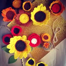 felt flowers diy felt flowers sunflower the crafty mummy