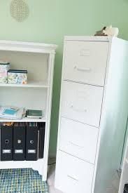 Wood File Cabinets For The Home by Another Home Office Makeover Green And Blue Heartworkorg Com