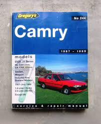 toyota camry 1987 89 auto owners workshop service repair manual