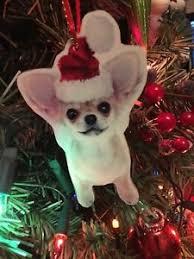 ornament chihuahua decorations tree ebay