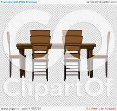 Wooden Chair Clipart Png Cartoon Of A Wooden Dining Room Table And Chairs Royalty Free