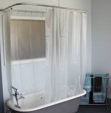 Clawfoot Tub Shower Curtain Ideas Curtain Shower Room Decorating Ideas With Clawfoot Tub Shower