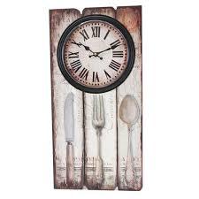 Wanduhren Wohnzimmer Mit Beleuchtung Wanduhr Besteck Holz Küchenuhr Uhr Römische Ziffern Höhe Ca