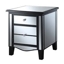 bedroom mirrored 2 drawers cpap nightstand for pretty bedroom