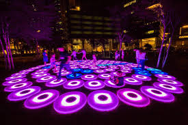 art show display lighting sustainable light art show illuminates singapore s marina bay news