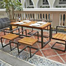 wood and wrought iron table rod iron and wood furniture furniture designs