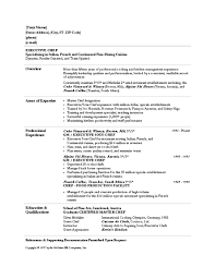Resume Samples For Cooks by Chef Resume Templates