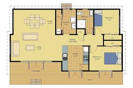 Two Bedroom Cabin Floor Plans Inspiring Small Cabin Floor Plans With Loft House Plan And