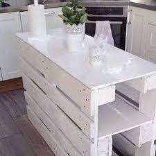 table de cuisine en palette diy déco un ilot de cuisine à faire avec 3 fois rien pallets