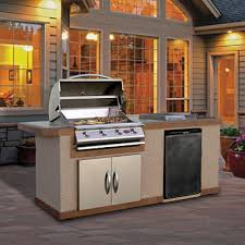 Backyard Hibachi Grill Cal Flame 7 U0027 Stucco Bbq Island With 4 Burner Gas Grill And Built