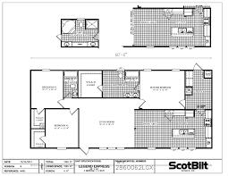 3 bedroom 2 bath mobile home floor plans scotbilt floorplans pg6