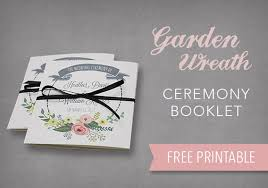 wedding ceremony program sles diy wedding program booklet template do it your self