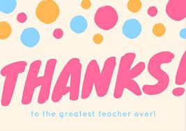 Thank You Card Designs Thank You Teacher Card Templates Canva
