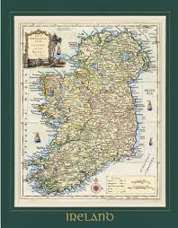 Ancient Map Map Of Ireland Ancient U0026 Olde Quality Print Framed Matt And