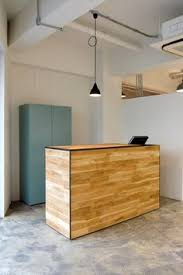 Yellow Reception Desk Wooden Bar Looks Unfinished Too Apartment Apartment Envy