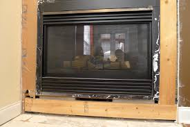 How To Finish A Fireplace - gas fireplace not installed flush with wall