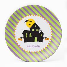 House Plate Haunted House Plate U2013 Milogiftshop