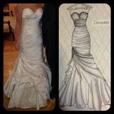 9 x 12 custom wedding dress drawing wedding by herecomesthedress