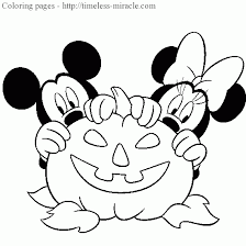 printable disney halloween coloring