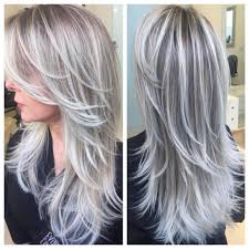 silver hair with lowlights best highlights to cover gray hair wow com image results