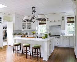 elegance white kitchen design with island and bar kitchen