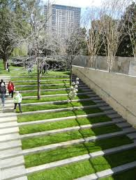 how to become a landscape architect with cool grass steps design