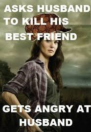 Lori Walking Dead Meme - the walking dead wtf