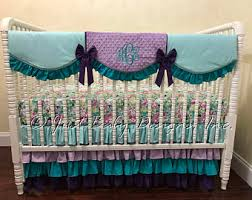 Purple And Teal Bedding Purple Aqua Bedding Etsy