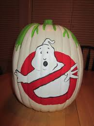 this is the ghostbusters inspired pumpkin i painted for my