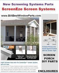 Screens For Patio Enclosures Screening Screen And Mesh Biltbest Window Parts