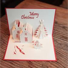 custom birthday cards christmas cards 3d pop up merry christmas series handmade custom