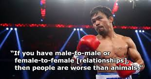 manny pacquiao dropped by nike after comparing gay people to animals