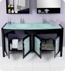 Fresca Bathroom Vanity by Fresca Infinito Espresso Modern Double Sink Bathroom Vanity W