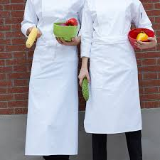 hotel restaurant white chef large apron services bust work
