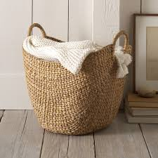 large curved basket by west elm rattan wicker seagrass